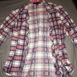 3/4 sleeve women's flannel